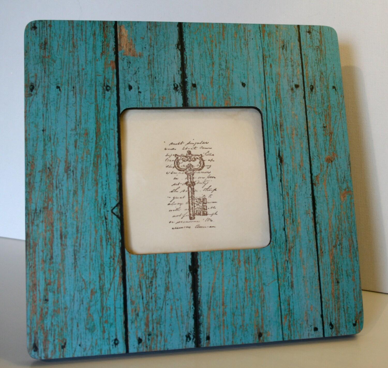 Coastal decor barnwood frame, Turquoise Picture frame, Photo frame ...