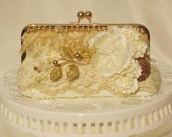Spring Wedding / Downton Abbey / Great Gatsby / Ivory Wedding Bag / Bridal Clutch / Wedding Clutch