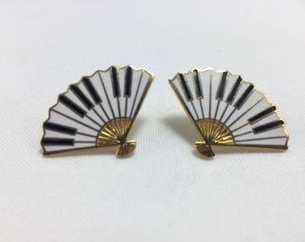 Vintage Hand Fan Earrings