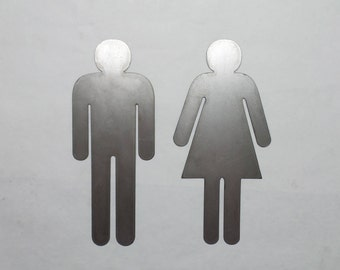 Gentil Man   Woman   Metal Sign   Metal Bathroom Sign Restroom Door Male Female  Gender His
