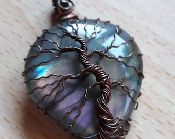 Tree of Life pendant on Labrador, pendant, wire, Tree of Life