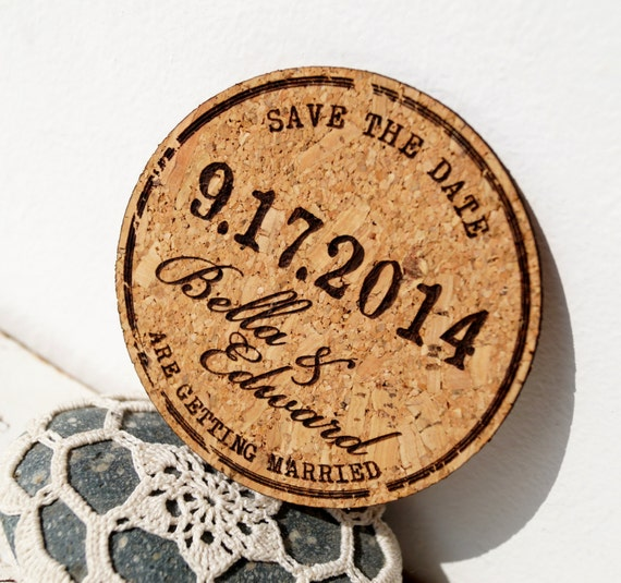 Rustic wedding save the dates cork save the date cards junglespirit Gallery
