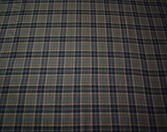 "Moss Green 100% Cotton Flannel Fabric 56""W Plaid Apparel Sheeting Shirting Soft"