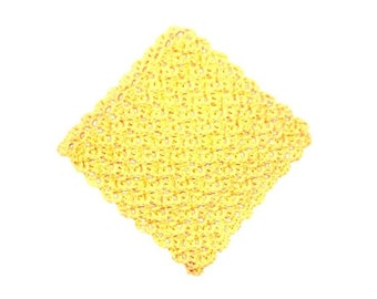 Dishcloth, Crochet,  Solid color Yellow