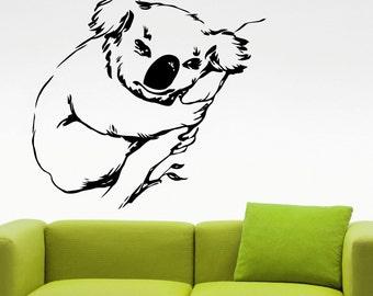 Koala Wall Decal Animal Stickers Home Wall Decor Living Room Wall Art Dorm Room Decor Vinyl Art Mural Removable Stickers 1kozz