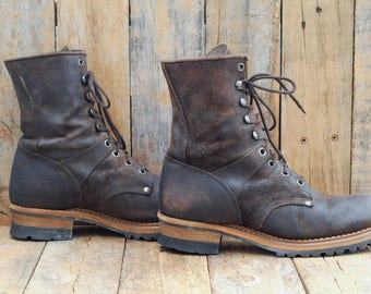 Us 11 E Georgia boot Us 11 work boot Lace Up boot Eu 44 work boot Eu 44 Georgia boot short work boot brown work boot leather work boot