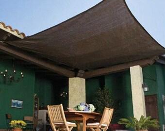 Sun Shade Sail 75% UV Block Outdoor Garden Awning Canopy Plant Cover Mesh Net Shade Cloth Brown Custom Made Size