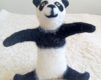 Needle Felted Panda Soft Sculpture