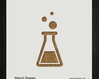 Erlenmeyer Flask Beaker Chemical Chemistry, Style 9732 DIY Plastic Stencil Acrylic Mylar Reusable