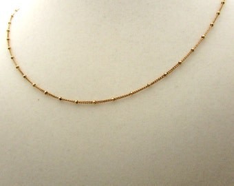Gold fill satellite necklace, gold satellite chain, delicate jewelry, minimalist necklace, saturn gold chain, simple gold jewelry