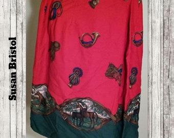Vintage Susan Bristol Equestrian Skirt Size 10