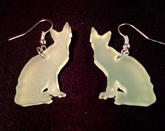 Siamese Acrylic Sea Glass Earrings