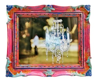 RESERVED for BLANCA Table Top Frame with 8 x 10 Picture Opening, Ornate Frame, Picture Frames, Shabby Chic, Pink Decor, Vintage Frame, Gift