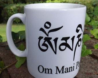 Om Mani Padme Hum coffee mug , Om mug