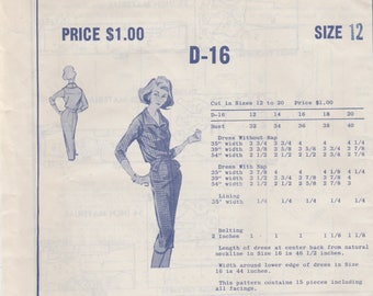 Nicely Detailed Dress Pattern Modes Royale D-16 Size 12 Unused