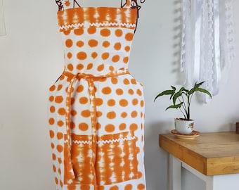 Apron Orange / White Adult