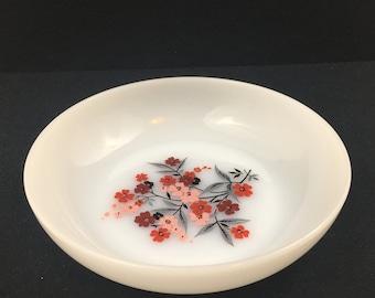 "Vintage Fire King Milk Glass Primrose Salad/Soup Bowl 6 1/2"""