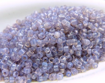 Vintage Venetian Light Purple Opal Size 11 Seed Beads #SV295