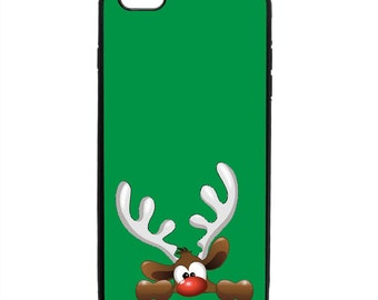 Christmas Rudolph Red Nose Reindeer Phone Case Samsung Galaxy S5 S6 S7 S8 S9 Note Edge iPhone 4 4S 5 5S 5C 6 6S 7 7S 8 8S X SE Plus