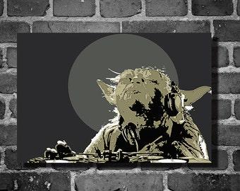 Star Wars dj yoda movie poster minimalist poster star wars art yoda rapping