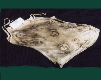 Moths Silk Camisole Natural Eco Dyed Top, Handmade Natural Dyes from Homegrown Plants