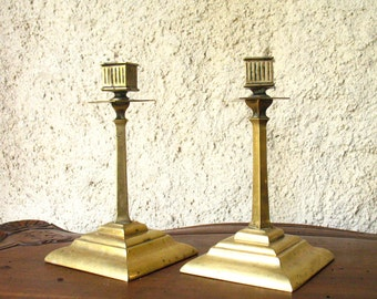 French bronze candle sticks | Art Deco