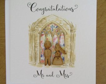 Wedding card - marriage -wedding day card - Bride and Groom - Mr and Mrs