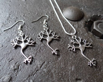 Neuron Necklace and Earring set