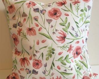 Floral Watercolour Cushion