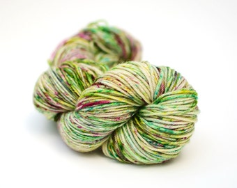 Hand dyed yarn - Superwash Merino Worsted - 115g