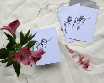 Embroidered Illustration Note Card