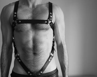 """THE BAD COP"" Fetish harness 2 in 1"