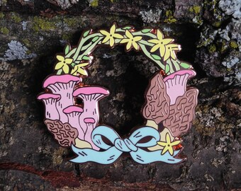 Spring Wreath Hard Enamel Pin (2 sizes available)