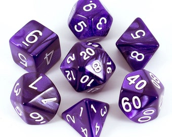 Paladin Roleplaying Pearl Purple Polyhedral Dice Set | DnD, Pathfinder etc