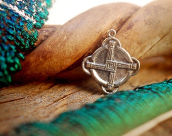 Brigid's Cross Charm ~ Sterling Silver Pendant ~ Irish Blessing and Protection ~ Catholic Saint ~ Celtic Goddess