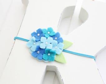 Felt Hydrangeas headband - Baby girl headband-Gift-Girl headband -Hair accessory -Toddler headband- Babyshower gift