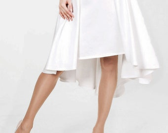 Satin Wedding Skirt, White Bridal Skirt, Ivory Maxi Skirt, MIDI Skirt, Custom Wedding Separates