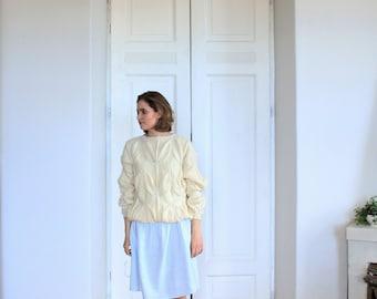 Merino sweater | handmade women sweater | women's sweater | hand knitted sweater | cozy pullover | sweater in leaves pattern