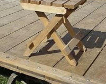 Amish Country Collectible Handmade Folding Chair / Folding Coffee Table