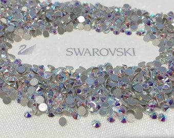 Genuine Swarovski Crystal Rhinestones flat back  - Crystal Clear AB Sealed Factory Pack SS 5TO SS 20 Swarovski Rhinestones  144 pieces