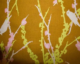 "Birds Flowers Print #18 100% Cotton Quilting Fabric Westminster Fibers Designer Print 45"" Wide By The Half Yard"