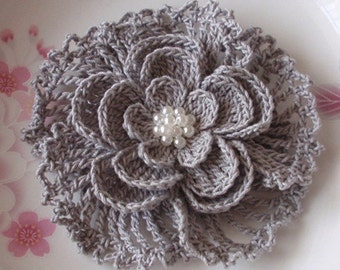 Larger Crochet Flower In 3.5 inches YH-024-04