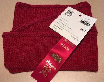 Red Tweed Circular Scarf