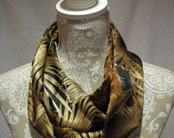 Jungle Print Infinity Scarf