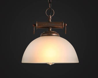 Oxford Glass Pendant - glass lamp - ceiling lamp - mounted lamp - E27 - edison bulb - industrial style - hanging lamp - Edison bulb lamp
