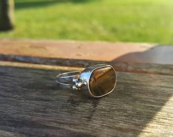Tiger Eye Ring Handmade & Silver