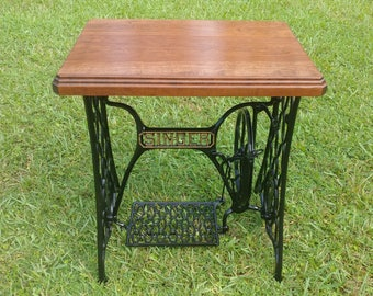 Singer Sewing Machine Treadle Table Top Custom Reclaimed Wood Oak Pine Maple Mahogany - TOP ONLY