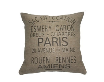 French Farmhouse Vintage ESMERY CARON Grain Sack Pillow, Industrial Loft, Country Style, Cottage Living  Ask a question