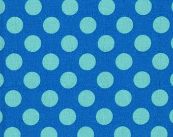 Handmade Curtain/Window Valance 44W x 15L in Polka Dot in Breeze 100% Cotton Twill, Home Decor, Baby's Room
