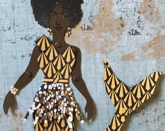 Mermaid Paper Doll 138 - Bronze Firefly